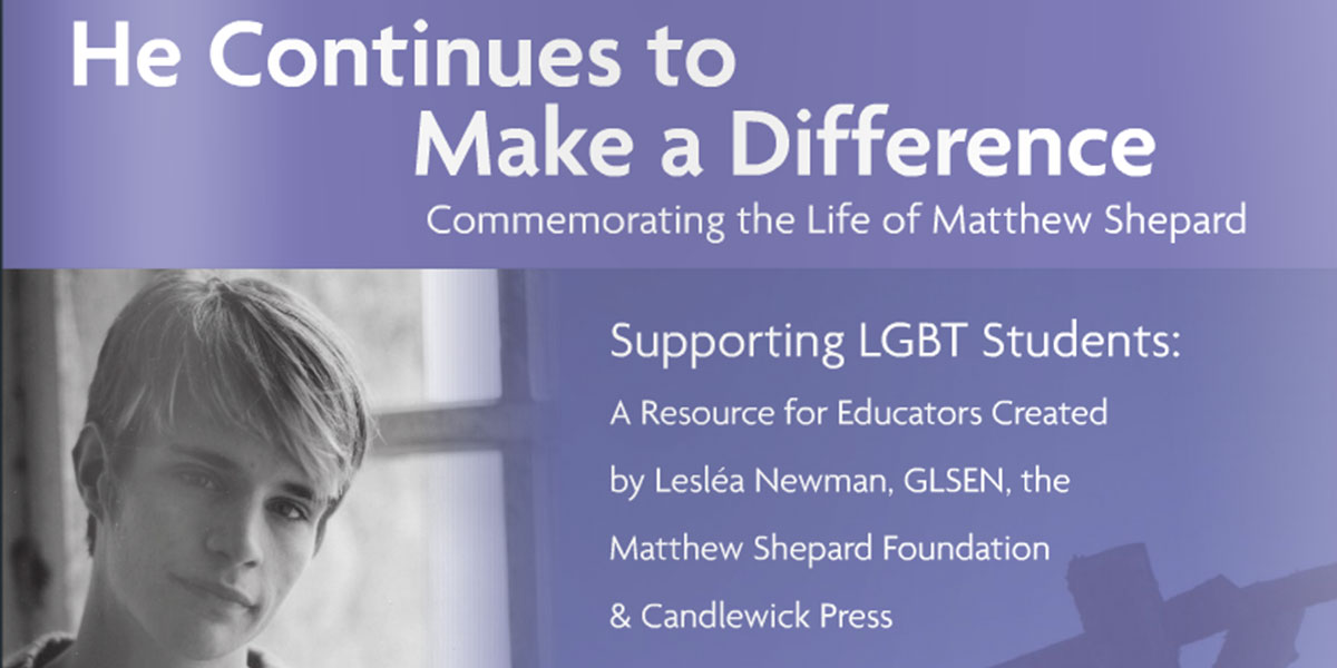 Teachers: Here's Your Chance to Bring Matthew's Story to Your Classroom