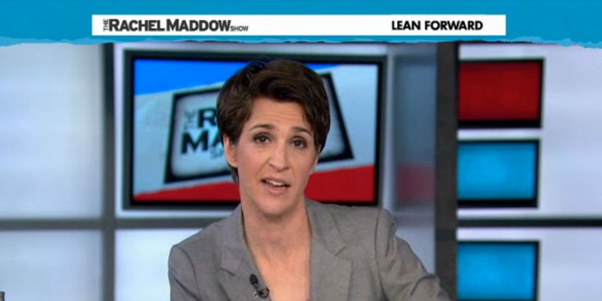 Rachel Maddow: Equality State Lives Up to Its Name
