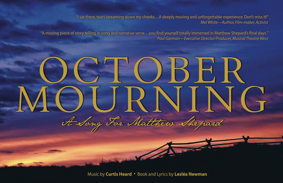 "Musical Rendition of ""October Mourning"" Brings Matthew's story to Long Beach"