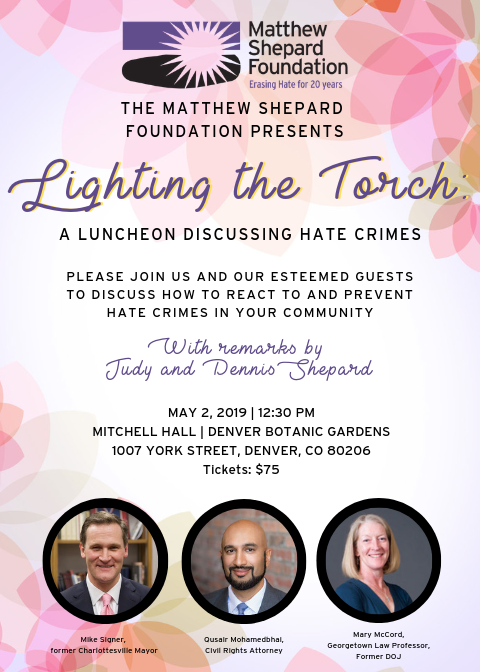 Lighting The Torch: A Luncheon Discussing Hate Crimes