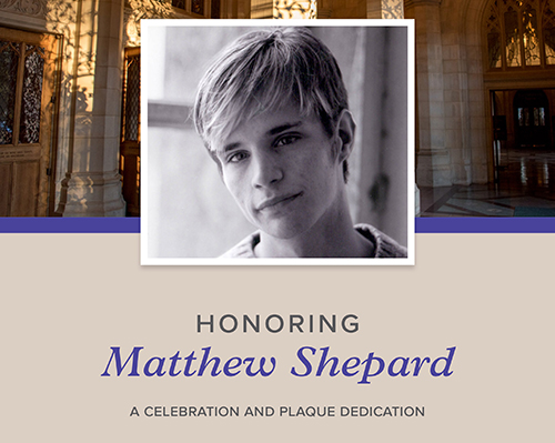 Honoring Matthew Shepard – A Celebration and Plaque Dedication